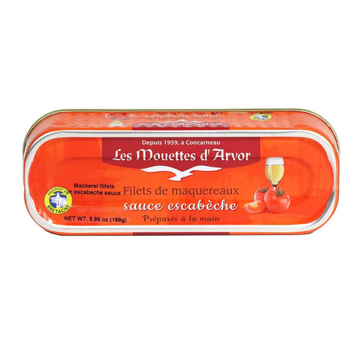 Mouettes d'Arvor - Mackerel Fillets in Escabeche Sauce, 169g (6 oz)