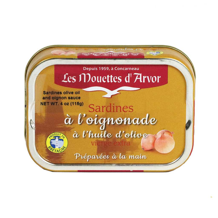 Mouettes Arvor - Sardines with Olive Oil and Onions, 115g (4.1 oz)