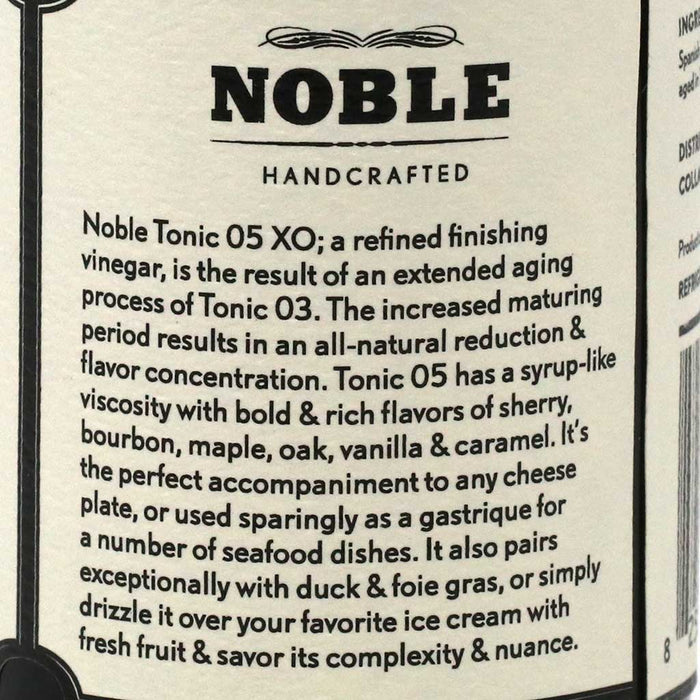 Noble Handcrafted - Tonic 05: XO Refined Finishing Vinegar, 120ml