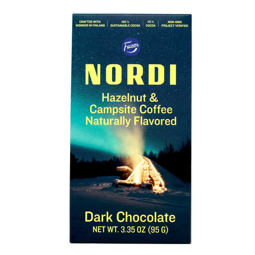 Fazer Nordi - Hazelnut & Campsite Coffee Dark Chocolate Bar, 95g