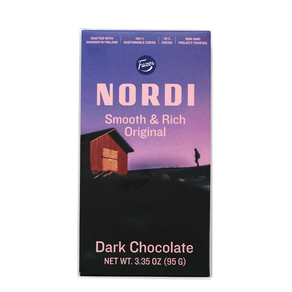 Fazer Nordi - Smooth & Rich Original Dark Chocolate Bar, 95g