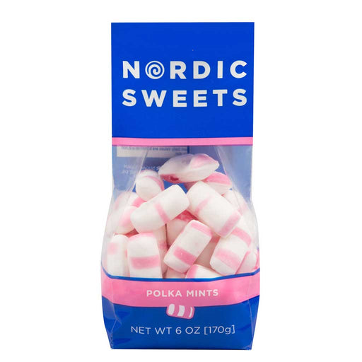 Nordic Swedish Polka Mints Peppermint, 6oz Bag