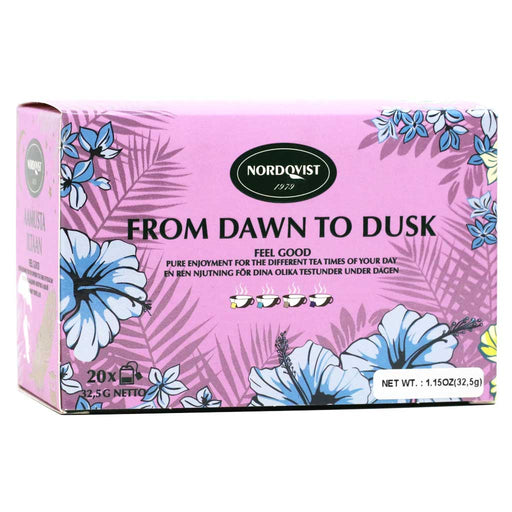 Nordqvist From Dawn to Dusk Assorted Tea, 1.14oz (20 Teabags)