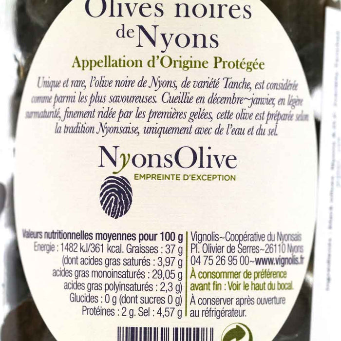 Nyonsolive - Nyons Black Olives, 210g Jar