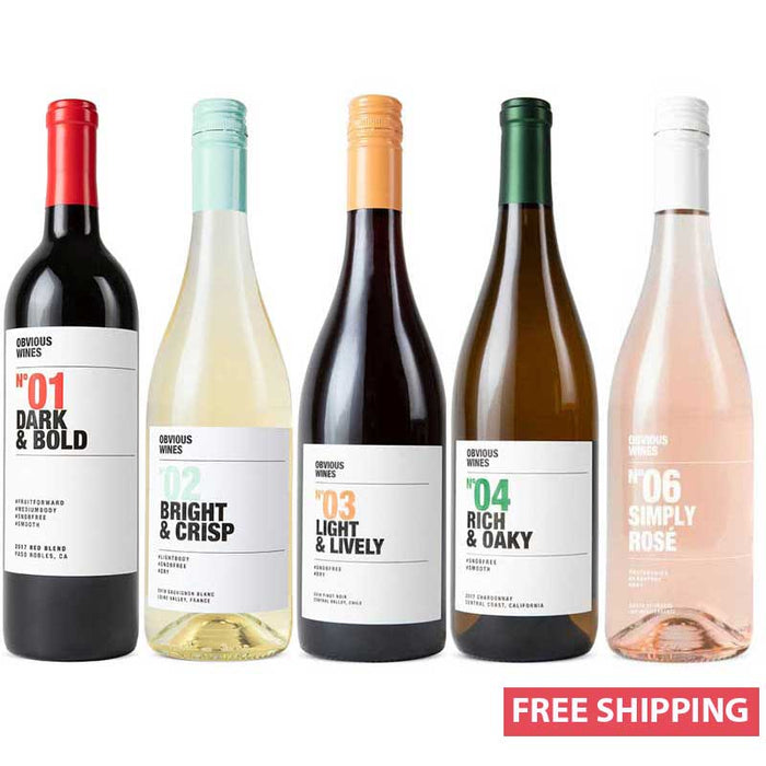 Obvious Wines - Sampler Cellar Collection (5 Bottles)