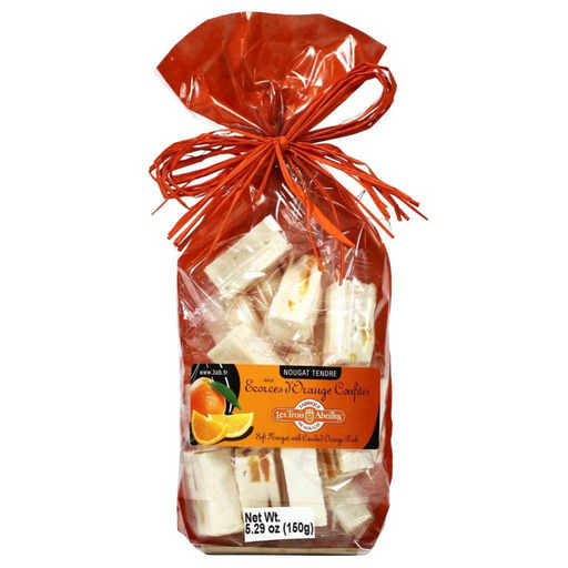 Trois Abeilles - Soft Nougat with Candied Orange Peels, 150g Bag