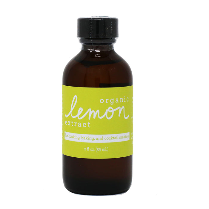 Organic Lemon Extract by Krista's Baking Co, 2oz