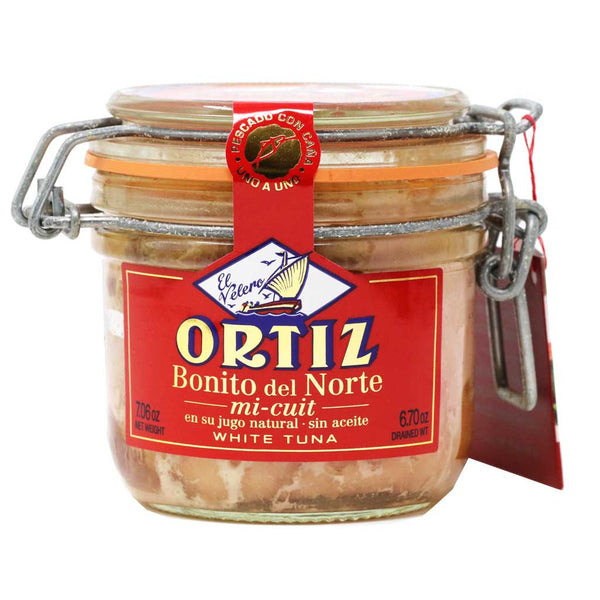Ortiz - All-Natural White Tuna Mi-Cuit in its Own Natural Juice, 200g