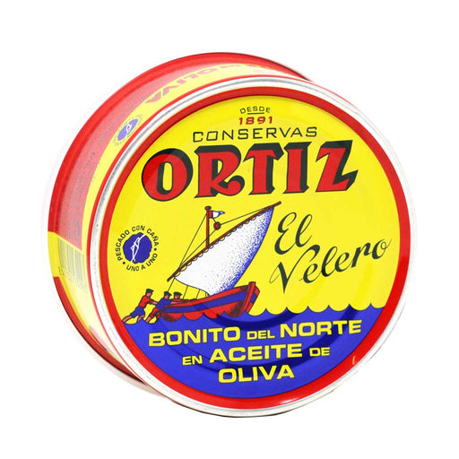 Ortiz - White Bonito Tuna in Olive Oil, 250g Round Tin