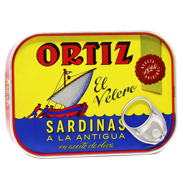 Ortiz - Sardines in Olive Oil, Old Style, 140g Tin