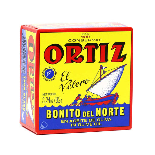 Ortiz - White Bonito Tuna in Olive Oil, 92g Round Tin