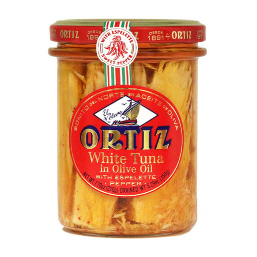 Ortiz - White Tuna in Olive Oil with Espelette Pepper, 220g
