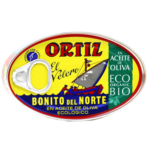Ortiz - White Tuna in Organic Extra Virgin Olive Oil, 112g Tin