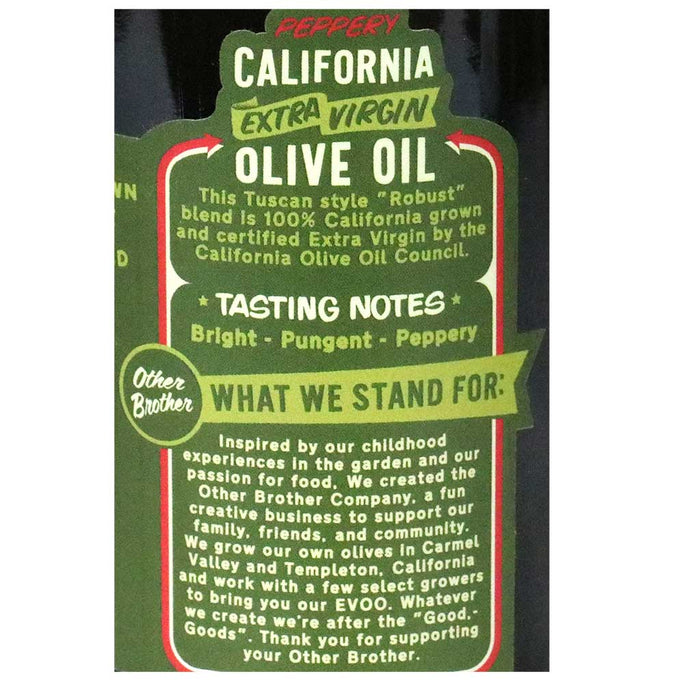 Other Brother - California Peppery Extra Virgin Olive Oil, 12.8oz