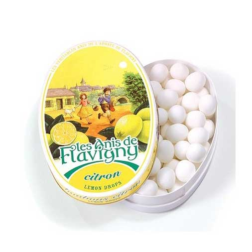 Les Anis de Flavigny - Lemon Flavored Anise Candy, 50g Tin