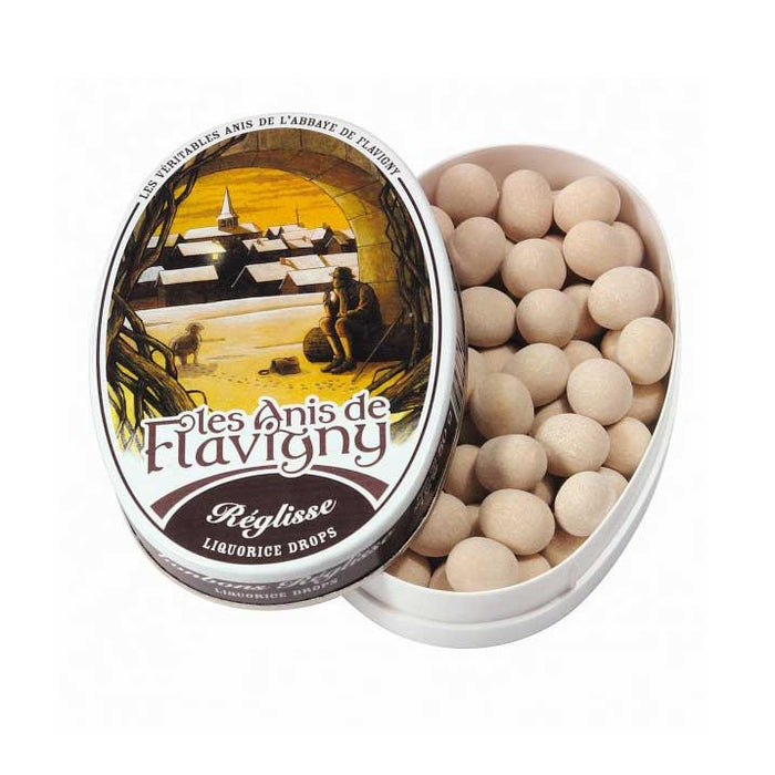 Les Anis de Flavigny - Licorice Flavored Anise Candy, 50g Tin