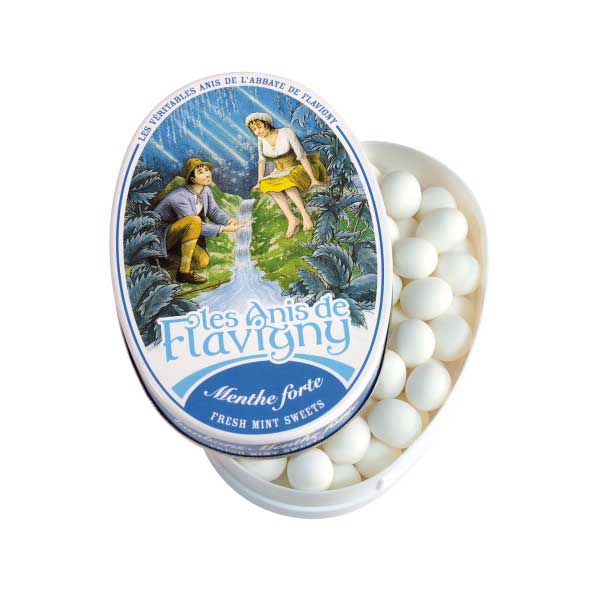 Les Anis de Flavigny - Mint Flavored Anise Candy, 50g Tin