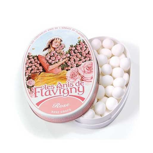 Les Anis de Flavigny - Rose Flavored Anise Candy, 50g Tin