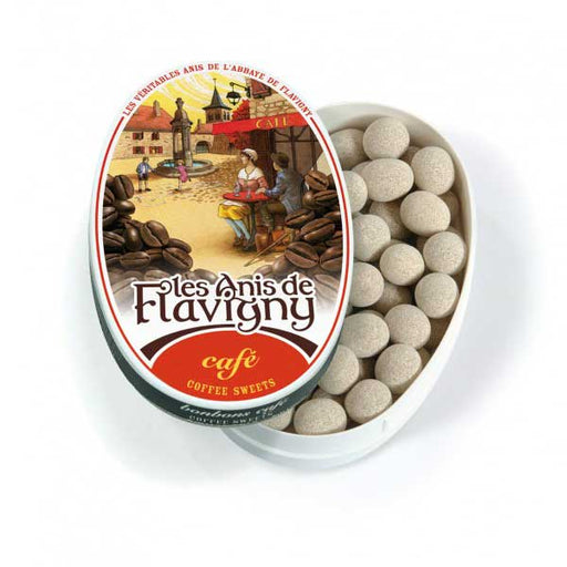 Les Anis de Flavigny - Coffee Flavored Anise Candy, 50g Tin