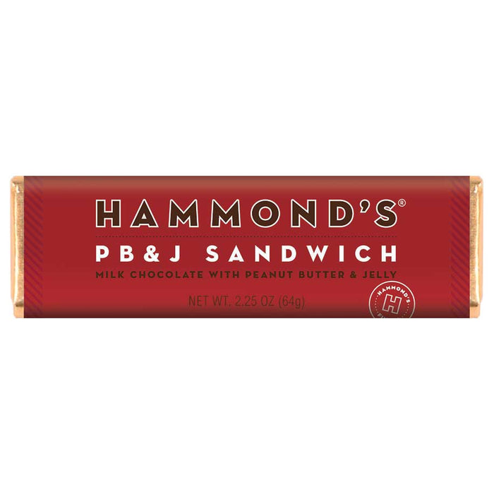 Hammond's PB&J Sandwich Milk Chocolate Candy Bar, 2.25oz