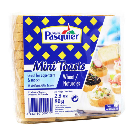 Brioche Pasquier - Mini French Toasts, 2.8oz (80g)