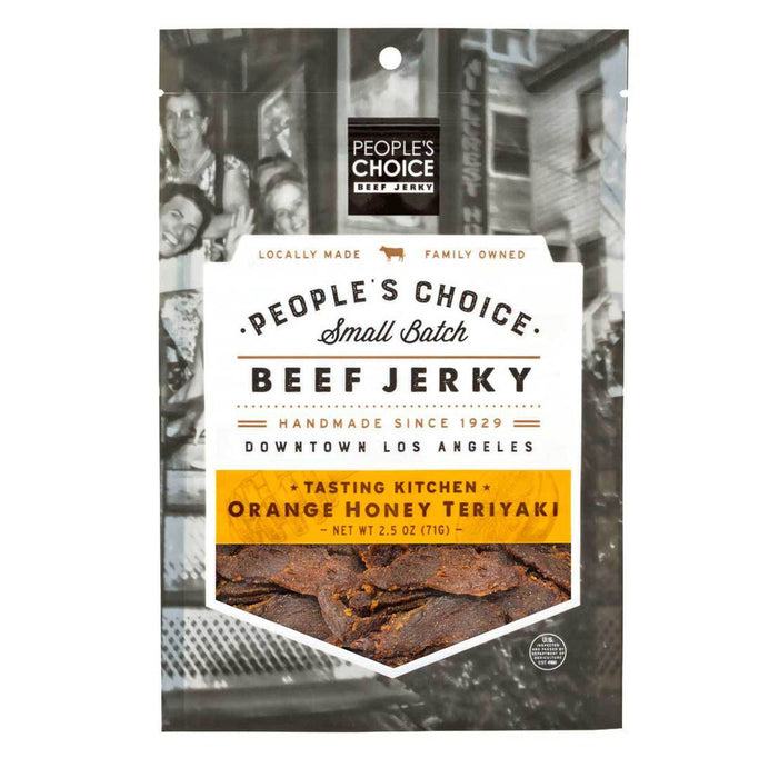 People's Choice Beef Jerky - Tasting Kitchen, Orange Honey Teriyaki, 2.5oz