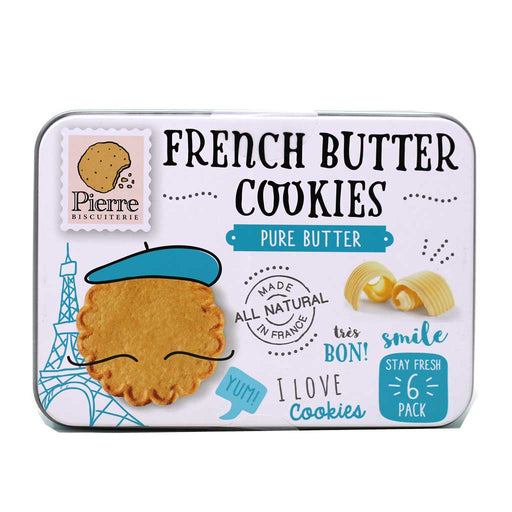 Pierre Biscuiterie - Pure French Butter Cookies Tin, 6.35oz