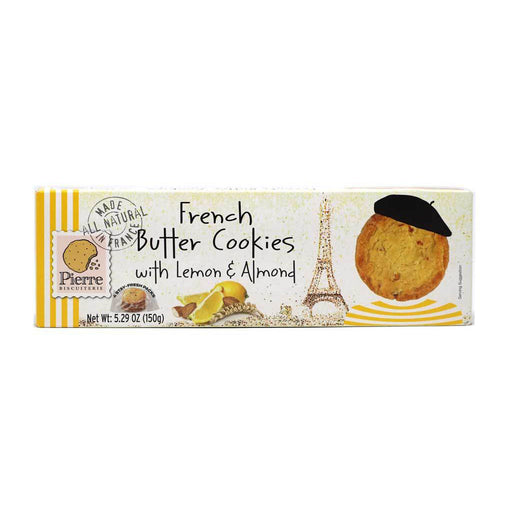 Pierre Biscuiterie - French Butter Cookies with Lemon & Almond, 5.29oz