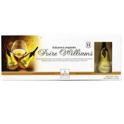 Abtey - Poire Williams Brandy Filled Dark Chocolate Pears, 3.5oz Box