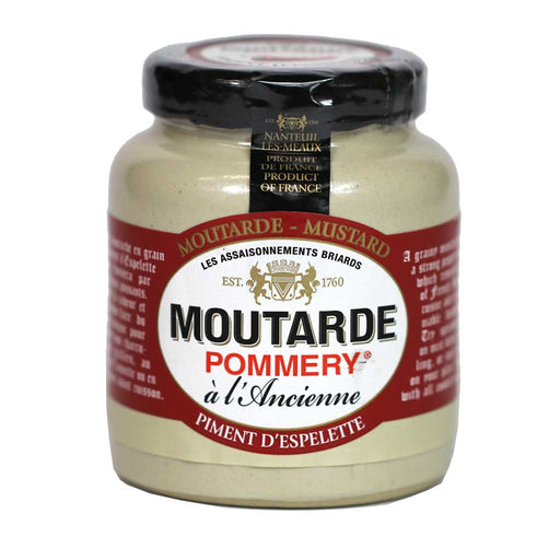 Pommery - Whole Grain Mustard with Espelette Peppers, 100g