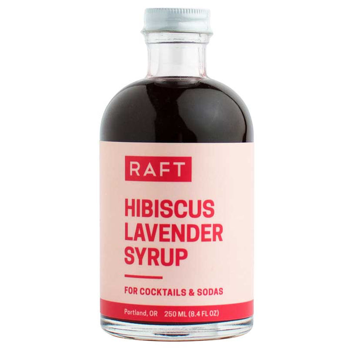 RAFT Botanicals - Hibiscus Lavender Simple Syrup, 8.4oz (250ml)
