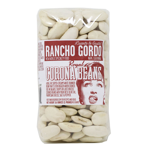 Rancho Gordo - Royal Corona Bean, 1 lb