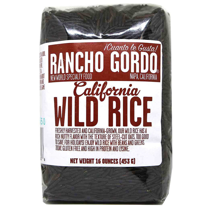 Rancho Gordo - Wild Rice, California Grown, 16oz