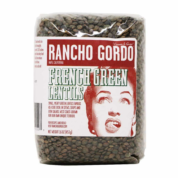 Rancho Gordo - French-Style Green Lentils, 1lb Bag
