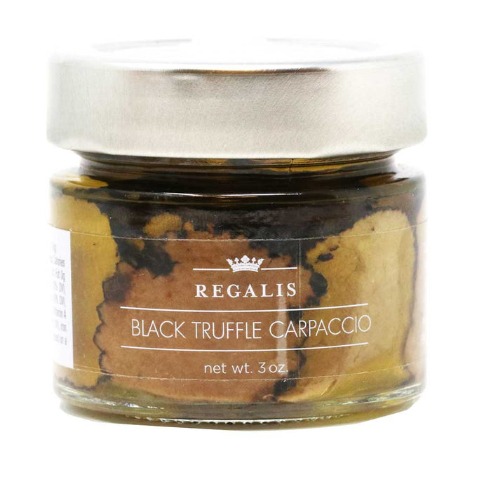 Regalis - Organic Preserved Black Truffle Carpaccio, 3oz (85g)