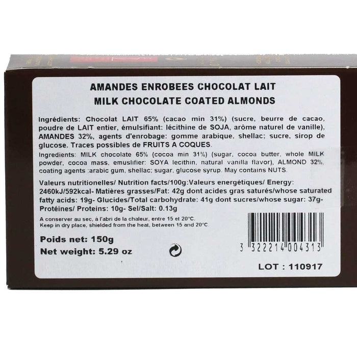Reynaud - Milk Chocolate Covered Almonds, 150g Box