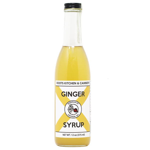 Roots - Ginger Infused Simple Syrup, 12oz