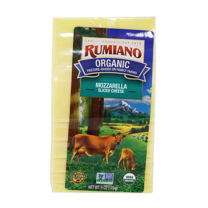 Rumiano - Organic Sliced Mozzarella Cheese, 6oz