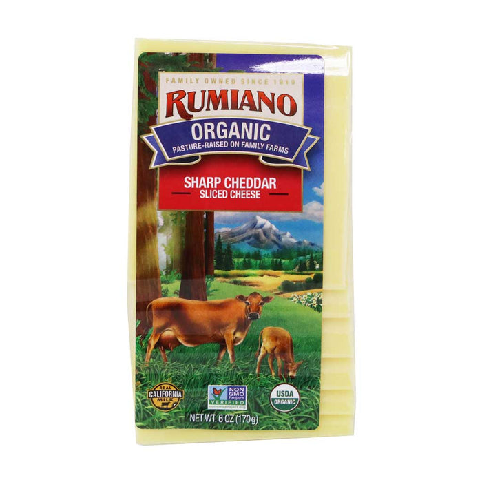 Rumiano - Organic Sliced Sharp Cheddar Cheese, 6oz