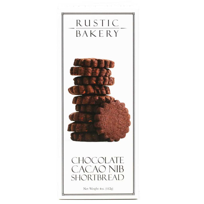 Rustic Bakery - Chocolate Cacao Nib Shortbread Cookies, 4oz