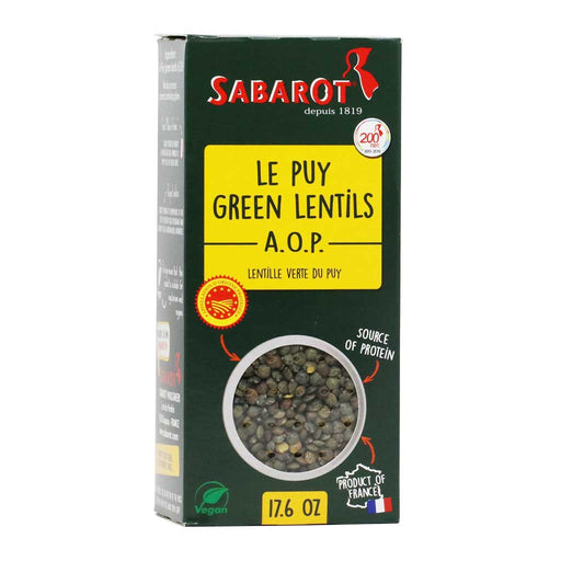Sabarot - French Le Puy Green Lentils AOP, 500g (17.6oz)