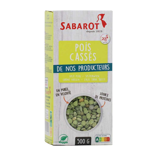Sabarot - Green Split Peas, 500g (17.6oz)