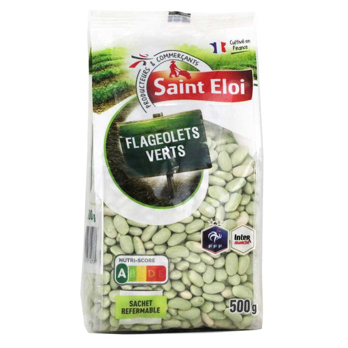 Saint Eloi - Green French Flageolet Beans, 500g (17.6oz) Bag