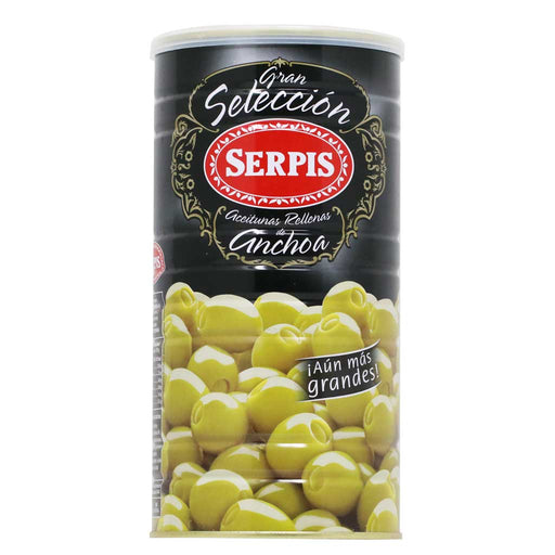 Serpis - Olives Stuffed with Anchovies, 20.8oz