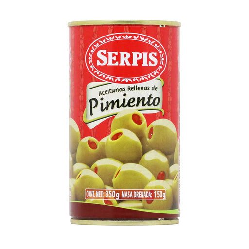 Serpis - Olives Stuffed with Red Bell Pepper, 5.29oz