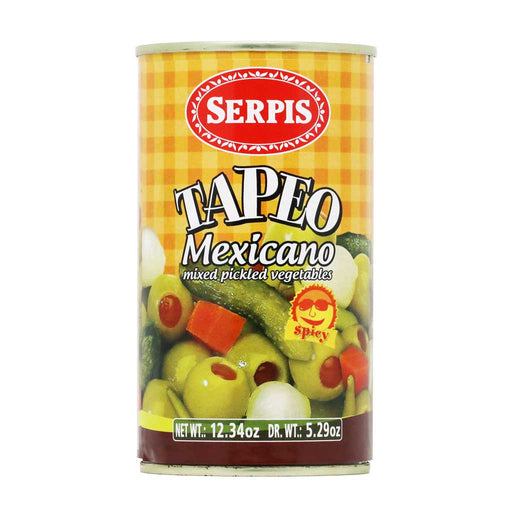 Serpis - Tapeo Mexicano (Olives Stuffed with Red Peppers & Pickled Vegetables Mix), 5.3oz