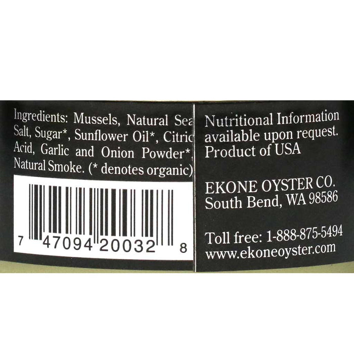 All Natural Smoked Mussels, 2.7oz (78g)