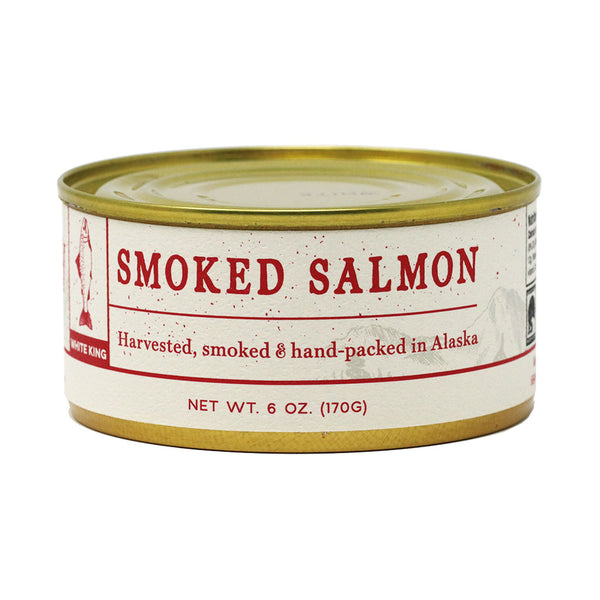 Smoked White King Salmon All Natural, by the Wildfish Cannery, 6oz Can