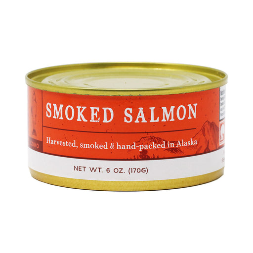 Smoked Coho Salmon All Natural, by the Wildfish Cannery, 6oz Can