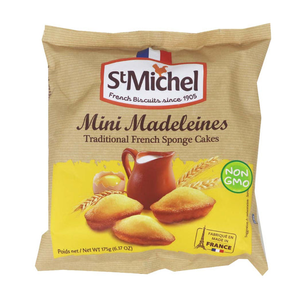St Michel - Mini Madeleines French Sponge Cakes, 175g (6.2oz)